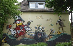 Donald Duck Remscheid graffiti 2